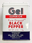 Gel Spice Superior Pure Ground Black Pepper Powder 24X4 Oz