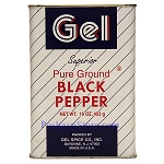 Gel Spice Superior Pure Ground Black Pepper Powder 12X16 Oz