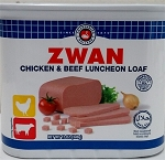 ZWAN BEEF & CHICKEN LUNCHEON LOAF HALAL 24X12 OZ